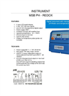 Model MSB pH-Rx - Professional Digital Microprocessor Based Instrument Brochure
