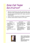 Model Sol 21x21cm2 - Solar Cell Tester Brochure