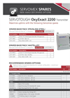 OxyExact - Model 2200 - Safe Area Oxygen Analyzers Brochure
