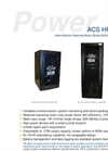 Model ACS HP Series - Modular Switched Mode Charger Brochure