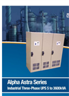 Alpha Astra Series Trifold Brochure