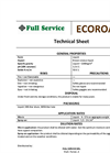 EcoRoad - Dust Suppression and Road Stabilization - Technical Sheet
