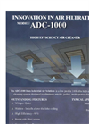 ADC-1000 - High-Efficiency Commercial Air Cleaner - Brochure