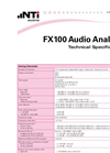 Flexus - FX100 - Analog & Digital Audio Analyzer - Technical Specification