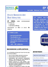 Model EP 1000 - Stack Dust Analysis Monitor Brochure