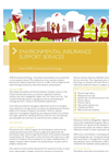 Environmental Insurance Support Services Fact Sheet