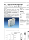 Model AD-TV 581 GS - AC-Isolation Amplifier Brochure