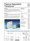 Model AD-TW 41 GM - Passive Separation Transducer - Brochure