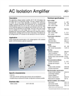 Model AD-TV 591 GS - AC Isolation Amplifier - Datasheet