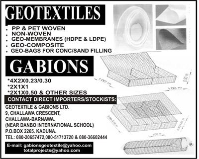 geotextile Companies and Suppliers in Nigeria