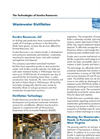 Wastewater Distillation Technology Brochure