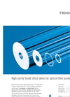 Heraeus - High Purity Fused Silica Tubes - Brochure