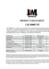 L & M - Model LM 1000P NT 10oz - Needle Punched Non Woven Geotextile Fabrics - Datasheet
