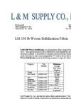 L & M - Model LM 150 - 150 lb - Tensile Woven Stabilization Fabric - Datasheet