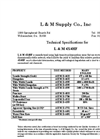 L & M - Model LM 4x6 - High Strength / High Performance Geotextile Fabrics - Datasheet