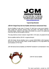 JCM - 401 - Single Strap Service Saddle - Typical Specification
