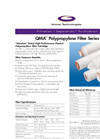 QMA - Polypropylene Filter Series Datasheet