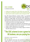 CRC Energy Efficiency Scheme Consultation Service – Brochure