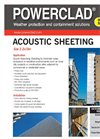 Acoustic Sheeting Information