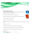 High Load Plastic Containers