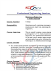 Maintenance Engineering - A Modern Approach - Course Brochure
