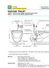 Evac Prestige Toilet - Technical Brochure