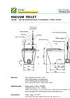 Evac Stainless Steel Vacuum Toilet - Technical Brochure