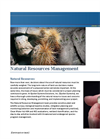 Natural Resource Management Services- Brochure