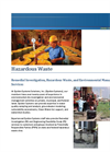 Remedial Investigation & Hazardous Waste Management Services Brochure