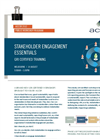 Stakeholder Engagement Essentials Brochure