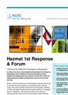 Hazmat 1st Response Training Brochure (PDF 237 KB)