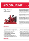 Global Pump - Model 12GSHAP - High Pressure Auto Prime Datasheet