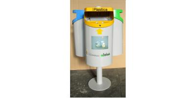 Eco-Isola - Model 50 lt. - Separated Waste Collection Three Bins