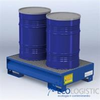 Ecologistic - Steel Containment Sumpfor 2 x 200 kg. Drum