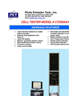 Model CT 200 AAA - Cell Tester Brochure