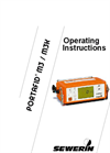 PORTAFID - Model M3/M3K - Portable Flame Ionisation Detector Operating Instructions Manual