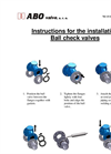 Ball Check Valves Installation manual