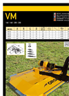 Model VM 140 - Agricultural Flail Mowers Brochure
