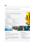 DESMI - ESL - High-Efficiency Vertical in-line Centrifugal Pumps - Brochure