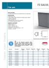 FZ GALVA G4 - Pre-filters Cells - Brochure