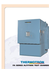 Thermotron - FA series - Altitude Test Chambers Brochure