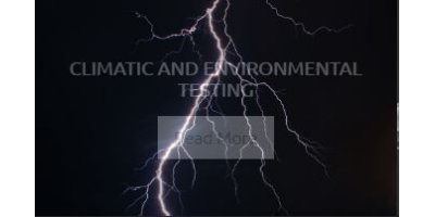 Climatic and Environmental Testing Services