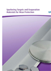 Sputtering Targets and Evaporation Materials for Wear Protection Brochure