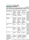 Considerations for Using Enviro Cover System and the ECD-616