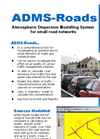 ADMS-Roads - Atmospheric Dispersion Modelling System for Small Road Networks - Brochure