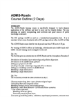 ADMS-Roads Training Course Outline - Brochure