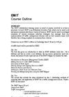 EMIT Introductory Training Course Outline - Brochure
