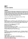EMIT - Standard Courses - Outline