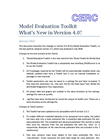 Model Evaluation Toolkit `What`s New` - Brochure