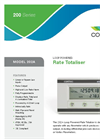 Contrec - Model 202A - Analogue Input Rate Totaliser Brochure
